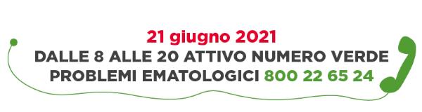 AIL - Numero Verde - 21 Giugno 2021